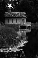 Monochrome boathouse