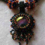 Black/Orange Pendant Necklace