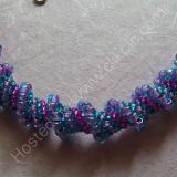 Purple Spiral Choker