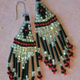 Fringed Bead Earrings