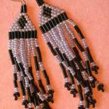 Purple Fringed Earrings