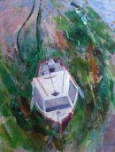 Cornwall boat at low tide