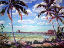 Another Day in Paradise at the Naples Pier /-Limited Edition of 95  (34.5x47) on Canvas $850.00/