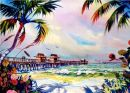 Naples Pier /-Limited Edition of 275 (21x29) $125.00/ /- Signed Mini (6x9) $20.00/