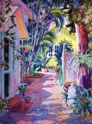 Old Naples Backyard /-Limited Edition of 275 (16x22) $95.00//-Open Edition mini (6x9) $15.00/