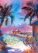 Old Naples Fishing Pier /-Limited Edition of 1000 (11.75x15.25) $36.00//-Open Edition mini (6x9) $15.00/