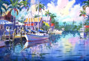 Schooner In Paradise / Limited Edition of 95 (11 x 15) $65.00 Limited Edition of 50 (16 x 22) $185.00  Limited Edition of 50 (21 x  29) $375.00/
