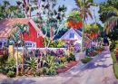 Tropical Alley /-Limited Edition of 275 (21x29) $125.00/ /-Signed mini (6x9) $20.00/