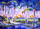 Under The Thatched Umbrellas / Limited Edition of 175 (11 x 15) $56.60  Limited Edition of 50 (16 x 22) $185.00  Limited Edition of 50 (21 x 29) $375.00/