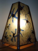 Blue Flowers lamp