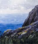 Ceredigion Coast Path. Oil on canvas