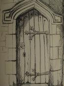 Church doorway, Dinefwr Park