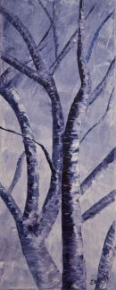 Winter Tree. Oil on canvas, 8 x 20 inches