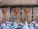 Wood and Pebbles (Pastel). 25 by 21 inches. Pastel on Paper. SOLD.