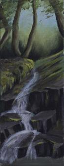 Woodland Waterfall near Nanternis