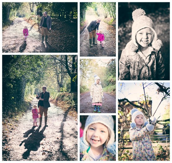 Family shoot in woods in Cuckfield, West Sussex