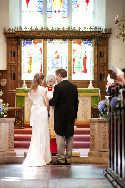 Bride and Groom at church ceremony