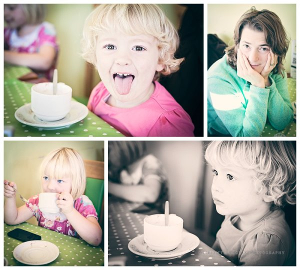 Family photography in cafe in Cuckfield, West Sussex