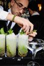 cocktails at wedding reception