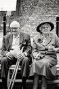 Grandparents on terrace