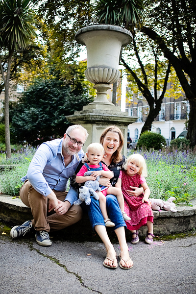 Group shot in Canonbury Square