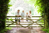 family by gate
