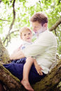 father son in tree