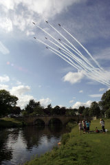 Red Arrows over Chatsworth