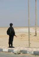 Solitary Desert Policeman