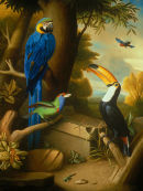'Exotic Bird Garden No.1', Oil on Canvas, 36x28