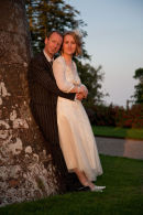 Bride and Groom in the Evening Sun